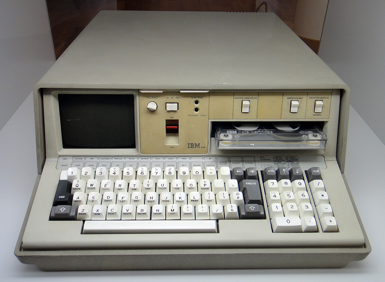 An IBM 5100 computer from 1975.
