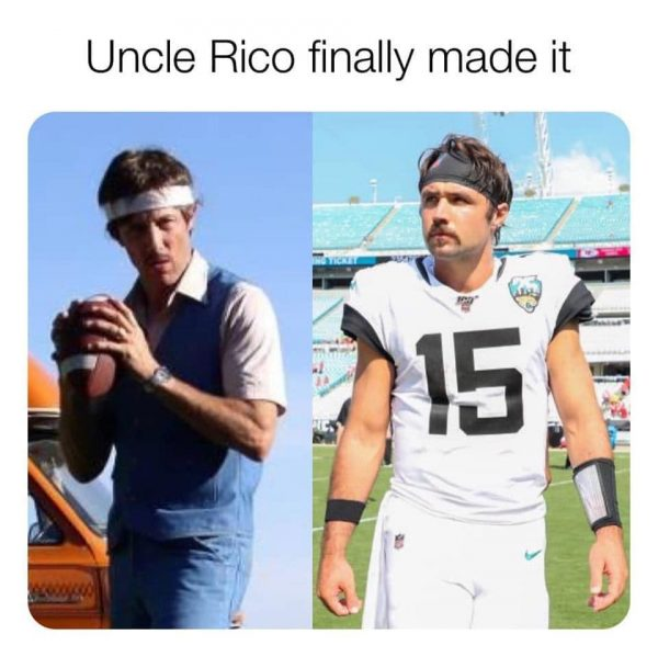 Gardner Minshew meme - Uncle Rico finally made it