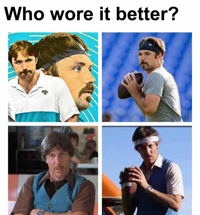 Gardner Minshew meme - who wore it better