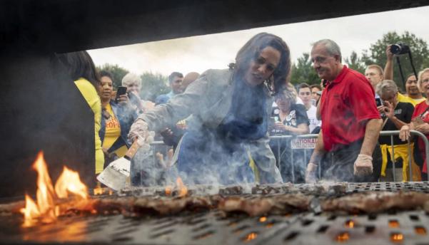 Kamala Harris at the Iowa Steak fry
