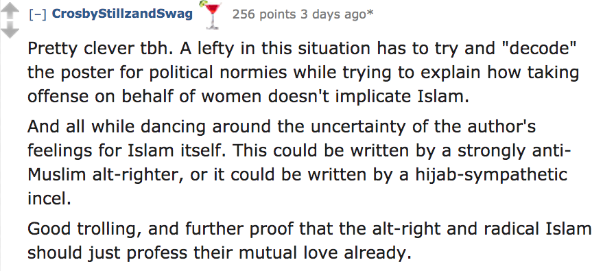 Reddit users give their takes on the Islam Is Right About Women posters