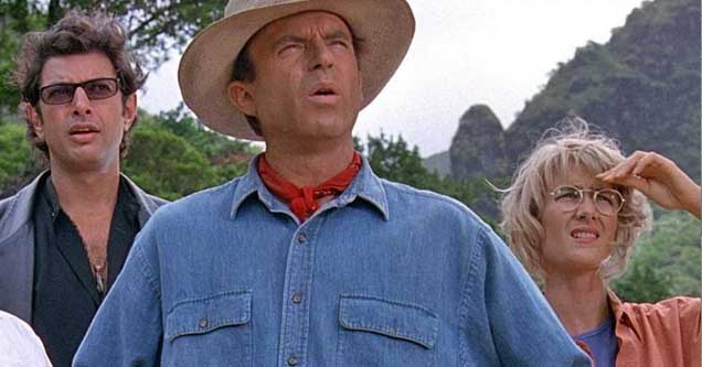 Jeff Goldblum, Sam Neil, & Laura Dern in the original Jurassic Park