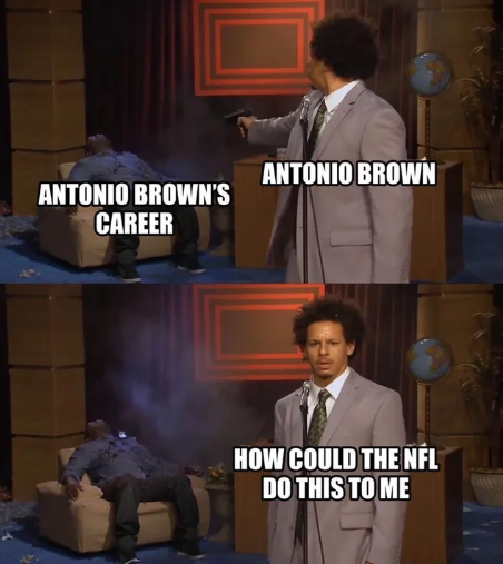 Eric Andre shooting meme - Antonio Brown how could the NFL do this to me