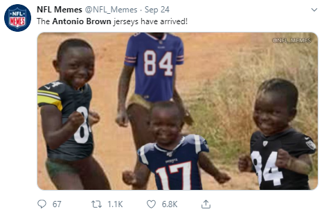 NFL memes - happy african kids the Antonio Brown jerseys have arrived