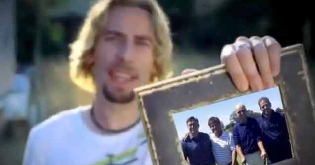 altered video meme of Nickelback's 'Photograph' video posted by Trump