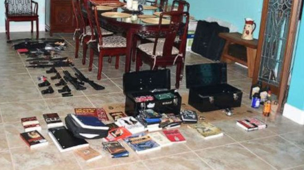 When deputies entered her room, they found dozens of weapons, including 24 pipe bombs, smokeless pistol powder, fuse materials, 23 knives, BB guns, nunchuks and books regarding domestic terrorism, stated Hillsborough County Sheriff Chad Chronister.