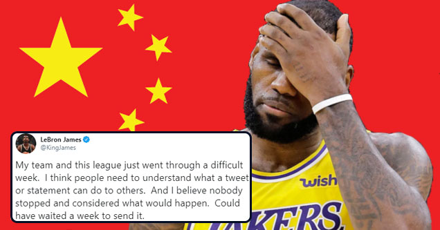 Lebron James makes controversial statement on China