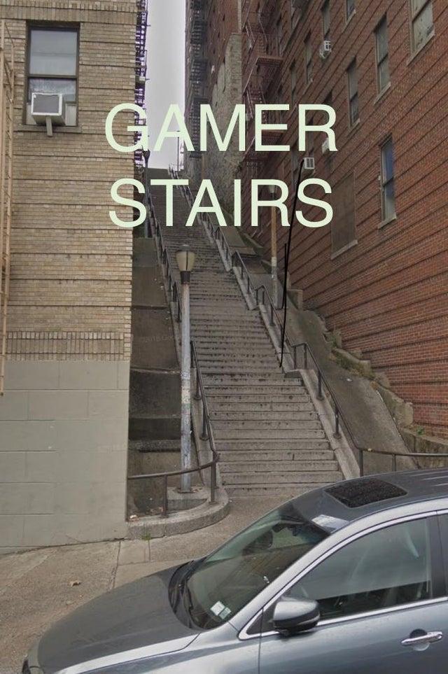 Gamer Stairs meme - The Joker Stairs Location