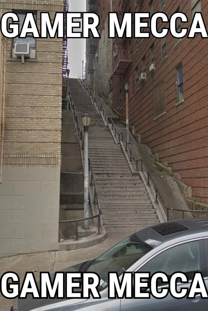 Gamer Mecca - Joker Stairs meme