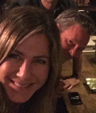 zoomed in screenshot of Jennifer Aniston's cocaine instagram photo