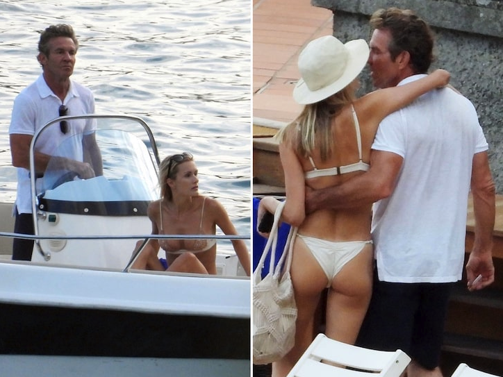 Dennis Quaid in Hawaii with his 26 year old girlfriend