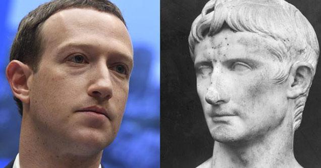 Mark Zuckerberg looks like Julius Caesar with his short little boy cut
