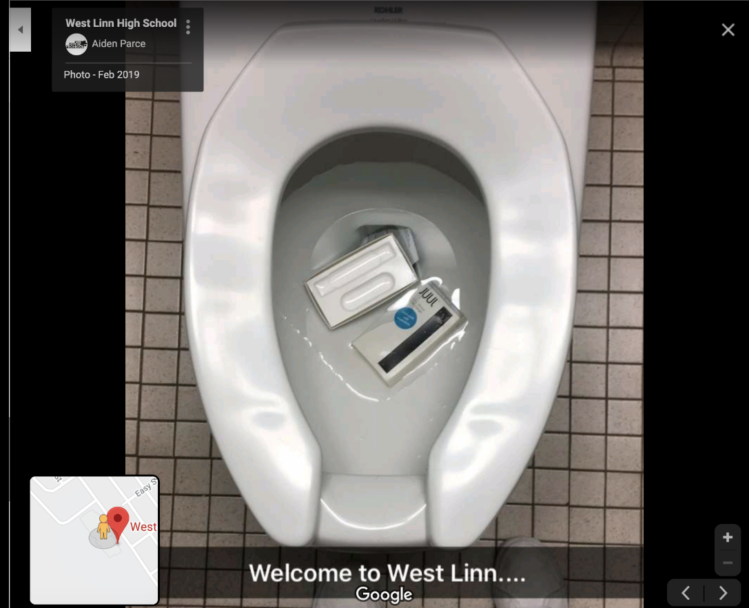 high schoolers are tagging their schools with cursed images on google maps