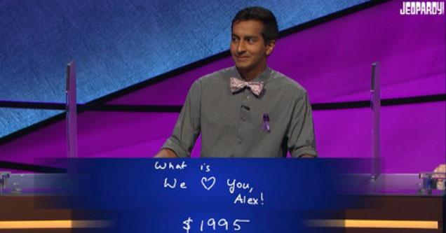 'Jeopardy' contestant Dhruv Gaur writes heartfelt message to Alex Trebek