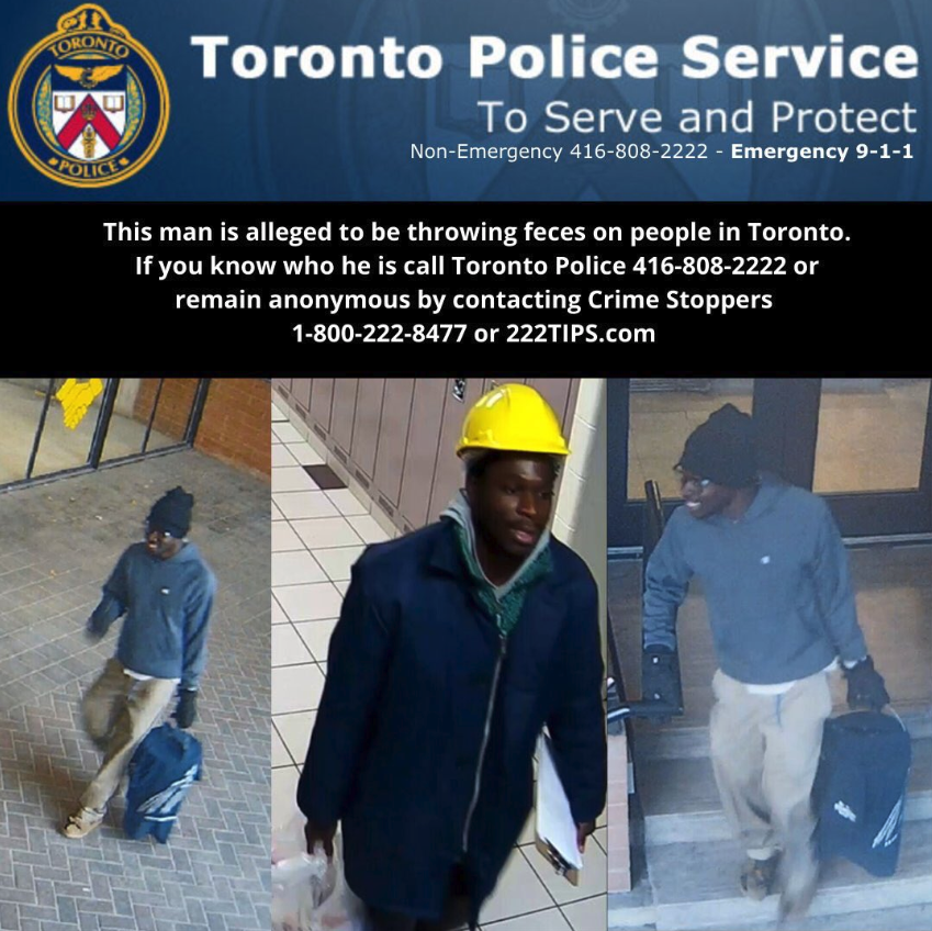 Police graphic warning about the Toronto Pooper