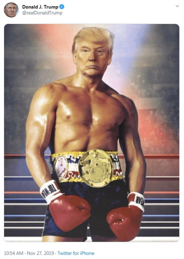 trump rocky balboa - Donald J. Trump Trump . . Twitter for iPhone