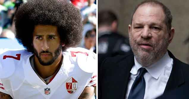 Colin Kaepernick and Harvey Weinstein