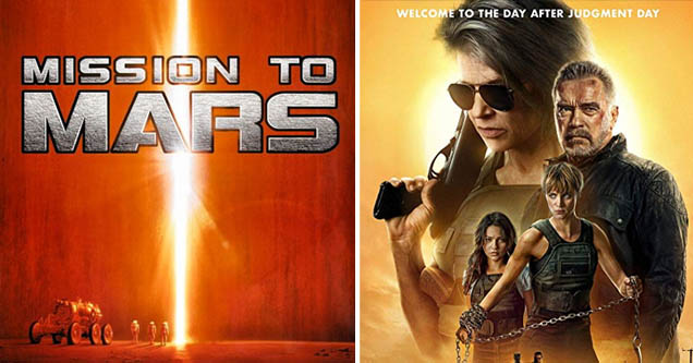 'Mission to Mars' and 'Terminator: Dark Fate' posters