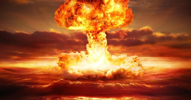 Nuclear explosion photo - WWIII memes on Twitter.