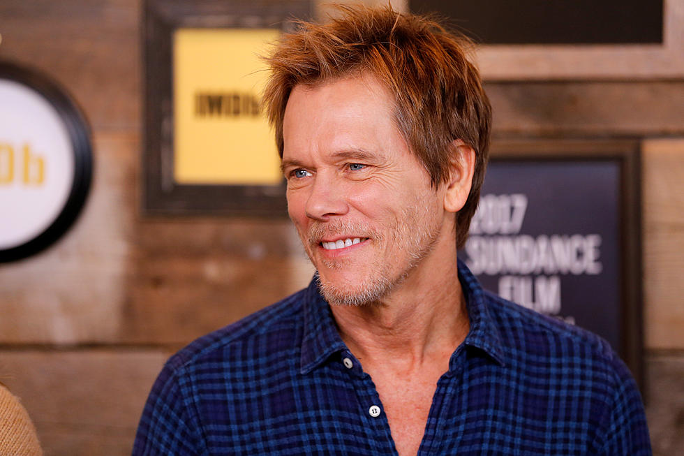 Actor Kevin Bacon speaking on television.