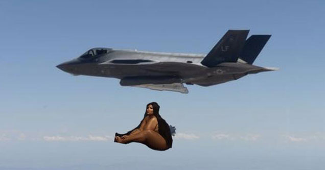 Dropping Lizzo on Iran memes - Lizzo being dropped from a plane like a bomb