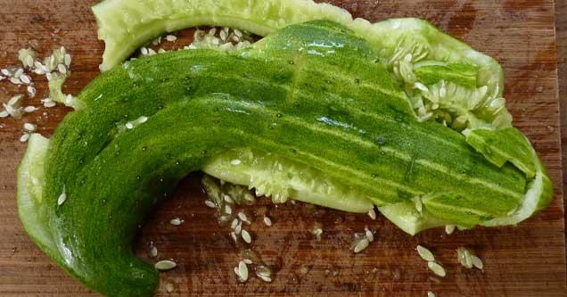 destroyed cucumber