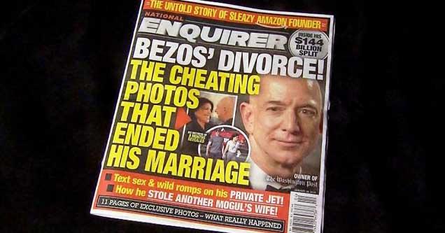 National Enquirer headline about Jeff Bezos' affair