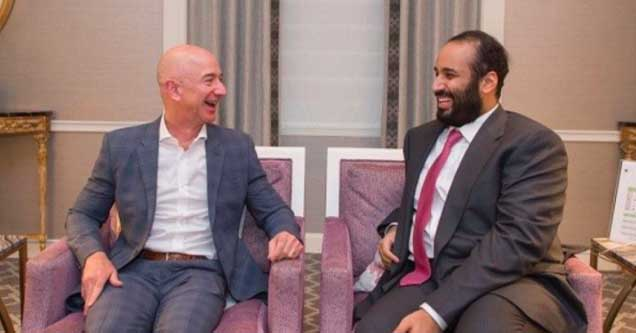 Bezos and MBS pictured during happier times