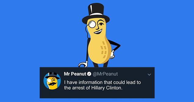 The estate of Mr. Peanut announced today on Twitter that at the age of 104 years-old Mr. Peanut