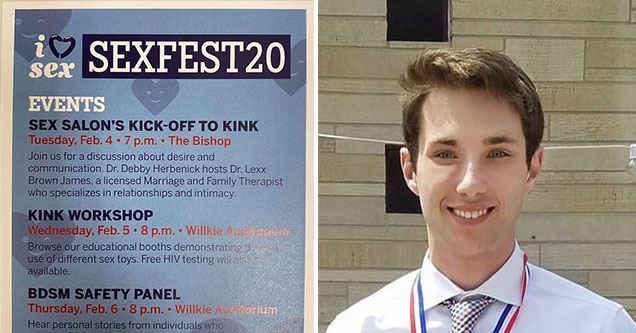 Matt Ahmann of Indiana University was upset when he walked into a BDSM display while on his college campus