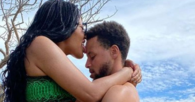 Stephen and Ayesha Curry post a sexy picture to Instagram during their vacation over the weekend