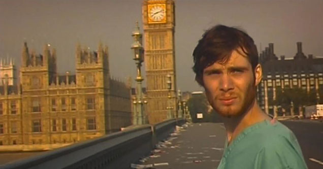 Screenshot from 28 days later - Jared Leto learns about Coronavirus