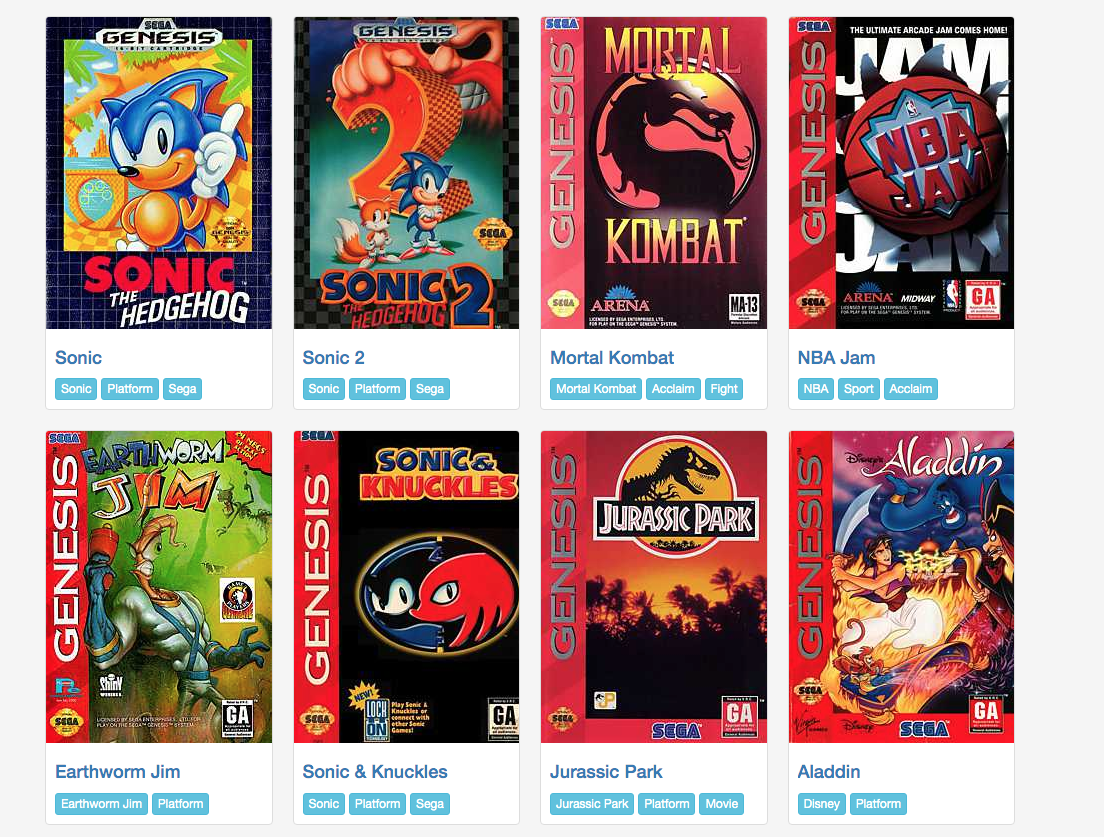 A selection of the games available from emulator.online.