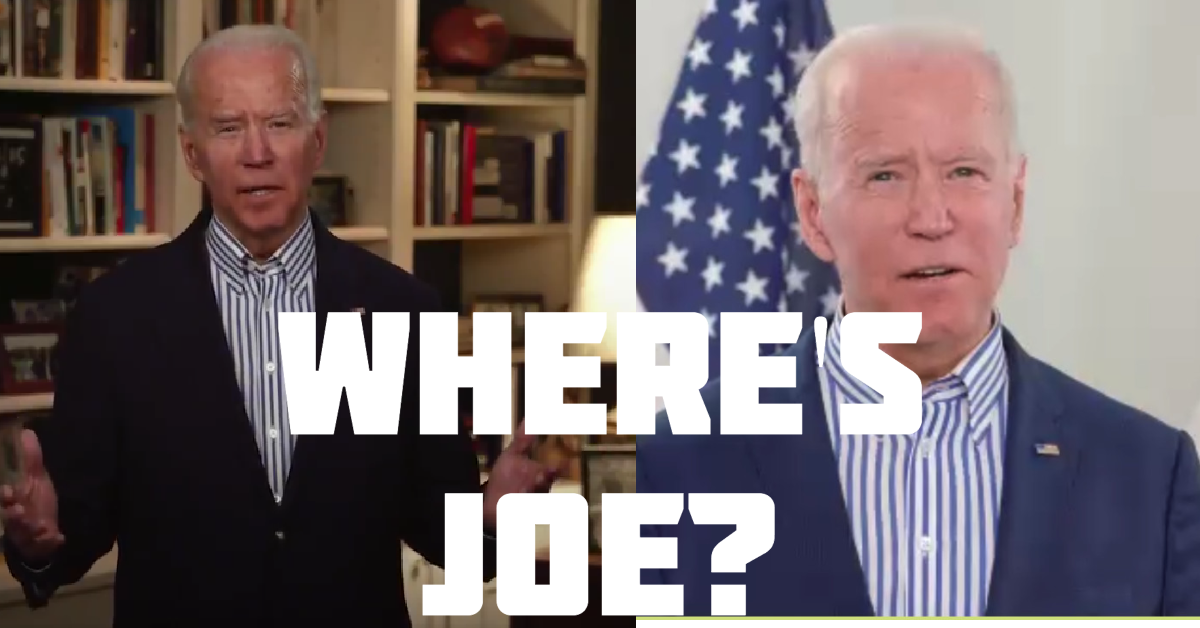 Is Joe Biden sick with the coronavirus or in a hospital - joe biden green screen - joe biden dead