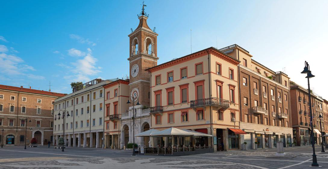 city center of rimini, italy