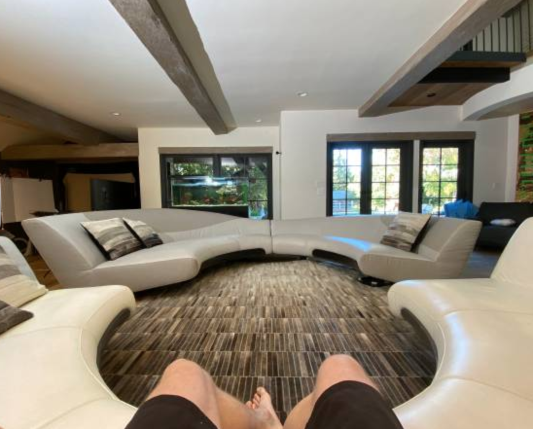 Logan Paul's mercedes-benz couch for sale.