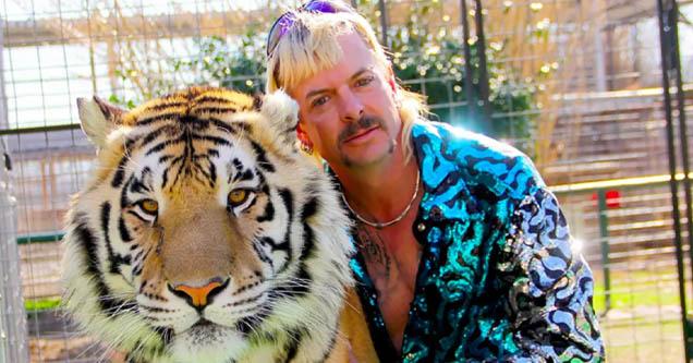 Joe Exotic aka 'Tiger King' poses with tiger