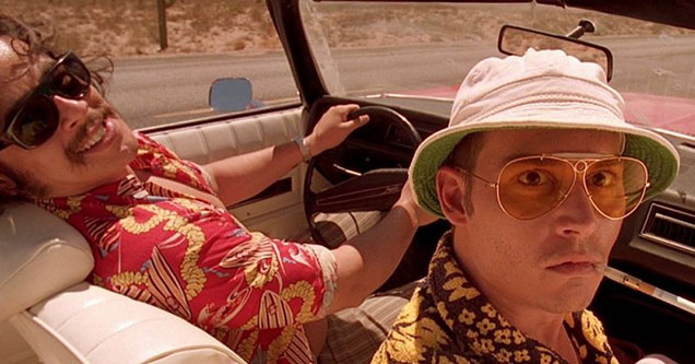 Johnny Depp as Hunter S Thompson in the Film Feat and Loathing in Las Vegas - Adrenochrome conspiracies