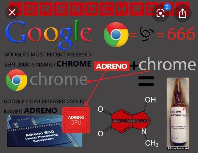 Adrenochrome Twitter Memes - Google is the devil