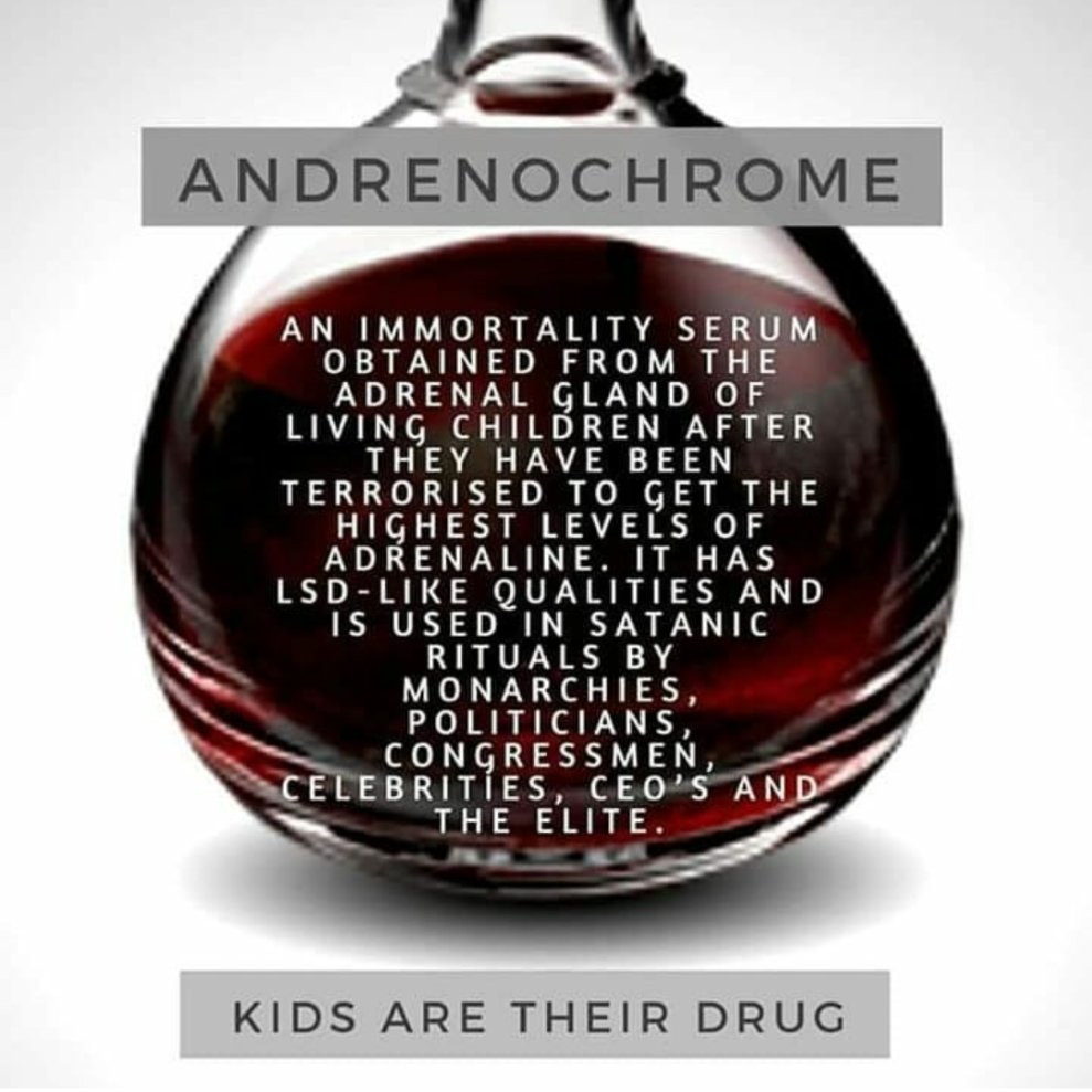 Adrenochrome Twitter Memes - a clear vase of blood