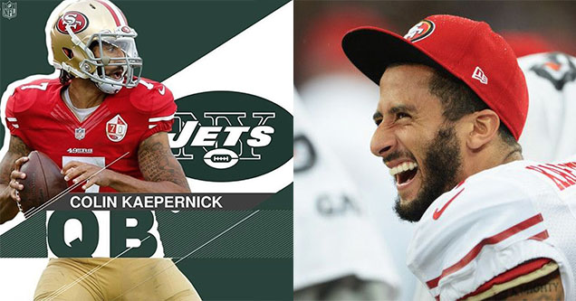 Colin Kaepernick is trending on twitter after a parody sports center account posted that he got signed.