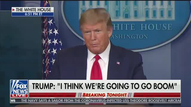 trump fox chyron I think we're going to go boom