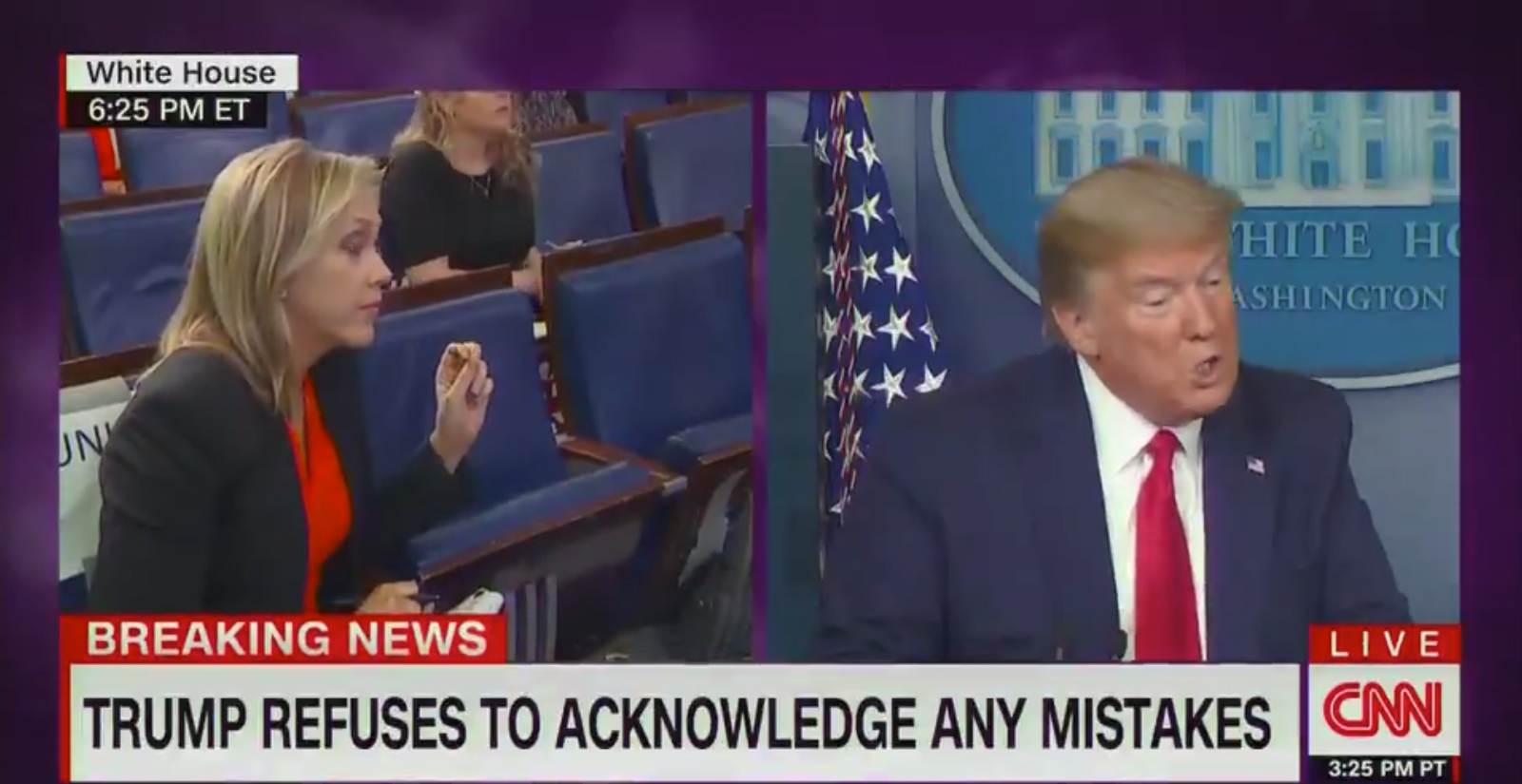 trump cnn chyron trump refuses to acknowledge any mistakes
