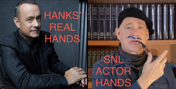 Hanks the real actor vs Tom Hanks the SNL actor