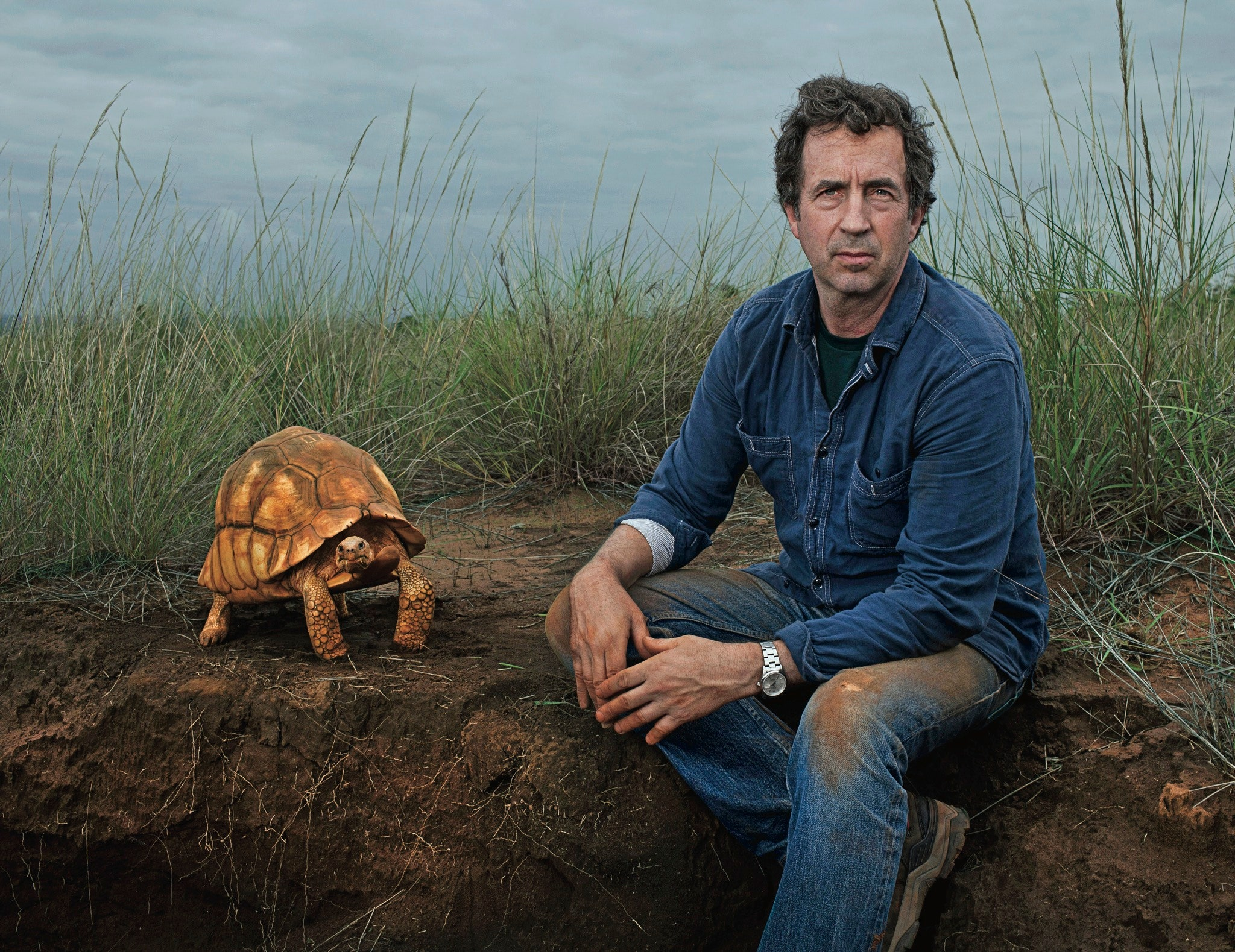 eric goode with rare tortoise