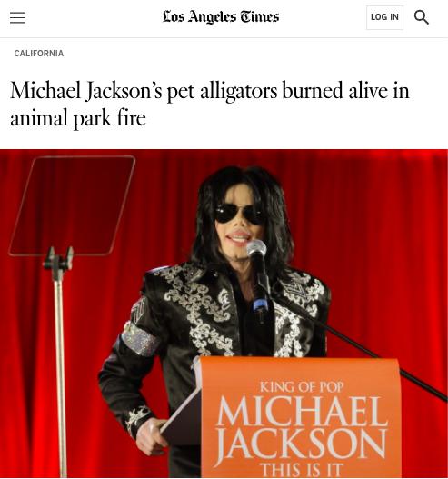 michael jackson's pet alligators burned alive in animal park fire