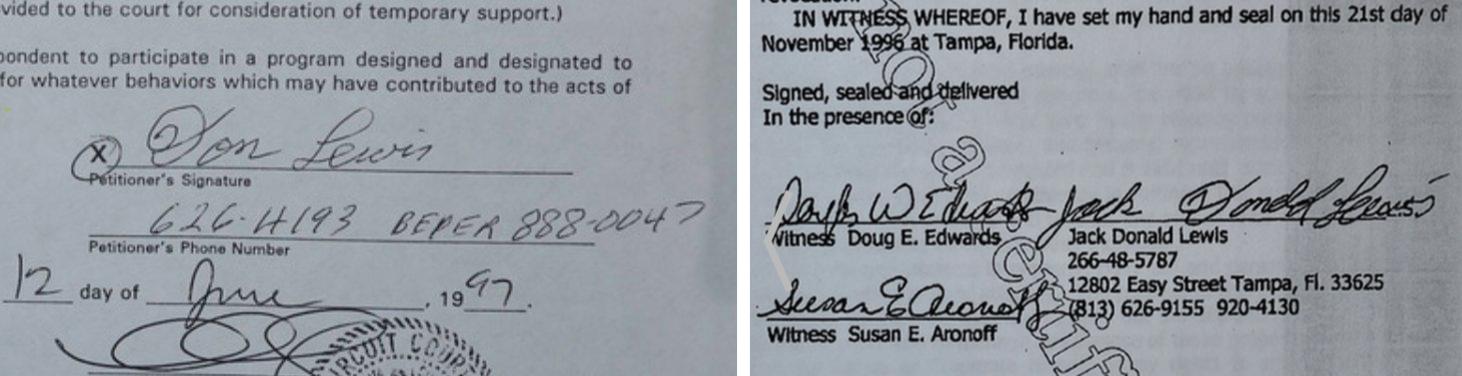 don lewis signatures