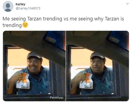 harley @harley1048573 Me seeing Tarzan trending vs me seeing why Tarzan is trending