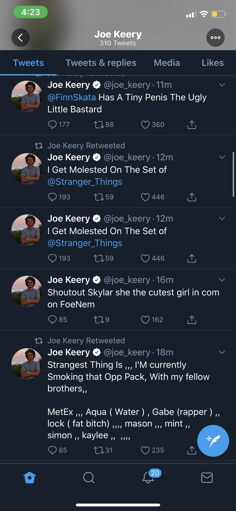 Joe Keery hacked tweet
