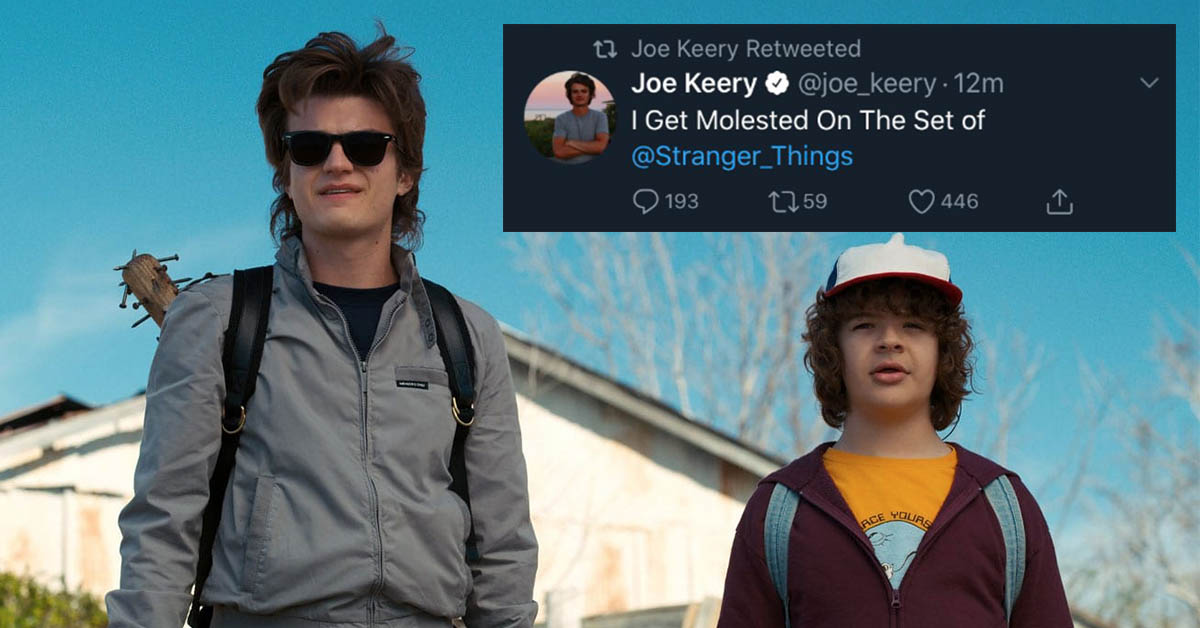 Joe Keery and Gatten Matarazzo were among those in a Twitter hack of Stranger Things cast memebers